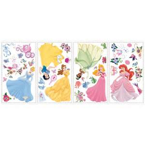 princess wall stickers room mates licensed designs disney princess peel and stick