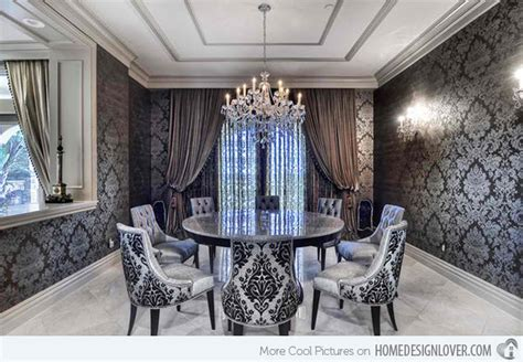 40 living room decorating ideas damask wallpaper damasks and 15 dining rooms with damask wall patterns house