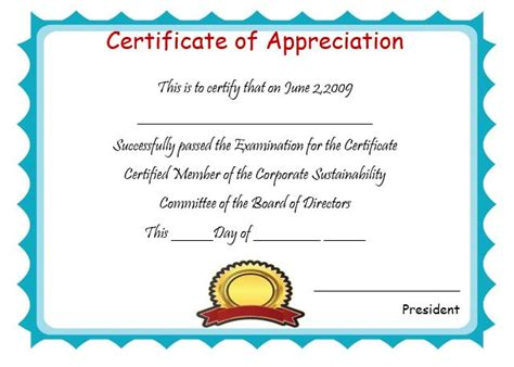 editable certificate of appreciation template certificate of appreciation template editable editable