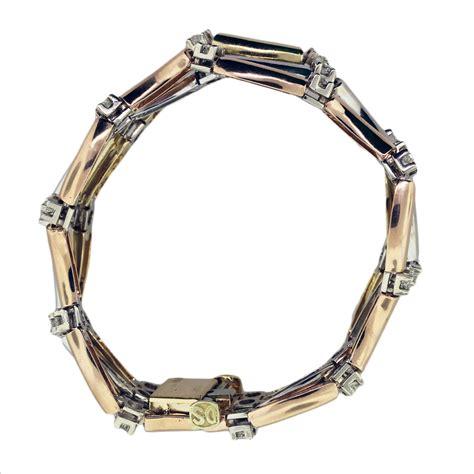 tri color gold bracelet 14k tri color gold and wave bracelet boca raton