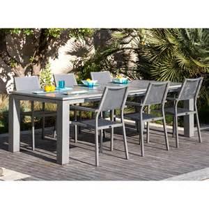 table de jardin aluminium extensible table de jardin extensible fiero en aluminium 180 240x103xh73cm proloisirs