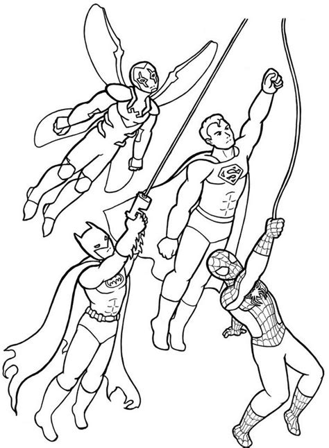 Super Heroes Coloring Pages Bestofcoloring Com Heroes Color Pages