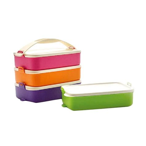 Tupperware Rantang Susun 3 jual tupperware click to go multicolor rantang 4 susun