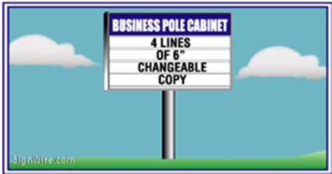 lighted pole sign lighted outdoor business pole signage