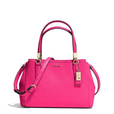 Coach Bag Pink by Coach Mini Christie Carryall In Saffiano Leather In Pink Lyst