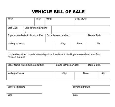 5 bill of sale florida car a cover letters