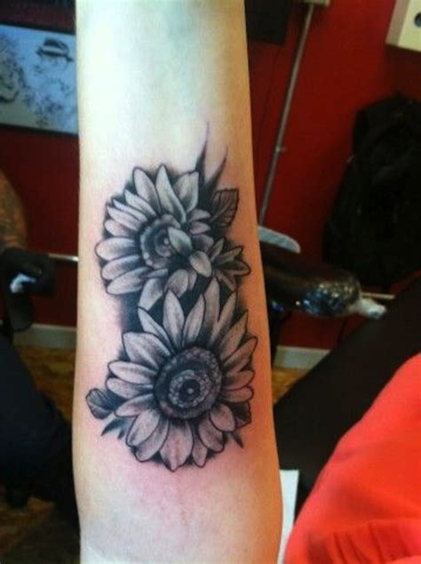black and white sunflower tattoo 125 sunflower to brighten your day