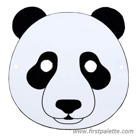 Masker Panda printable animal masks craft crafts firstpalette