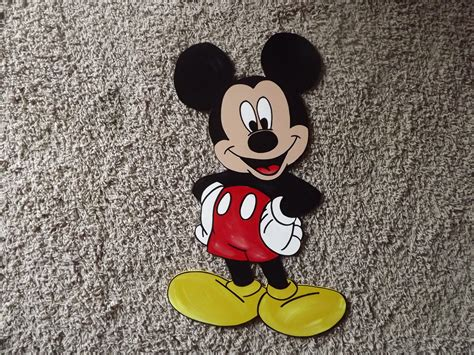 Mickey Mouse Handmade Decorations - items similar to handmade wood mickey mouse wall decor