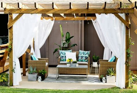 How To Make Patio Curtains by Turn Your Patio Into A Stylish Outdoor Lounge