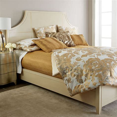 metallic gold bedding how to decorate with metallics in the bedroom