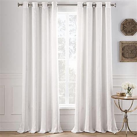 95 inch white curtains buy cole stripe 95 inch grommet top window curtain panel