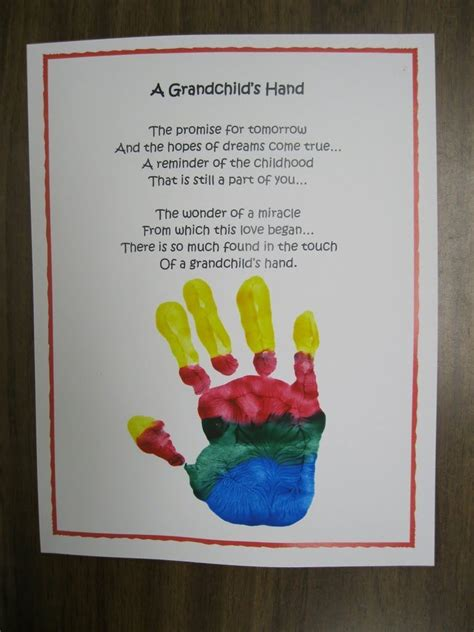 Grandparent S Day Handprint Up Handprint