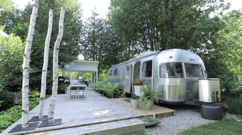 renovated airstream with awesome deck space