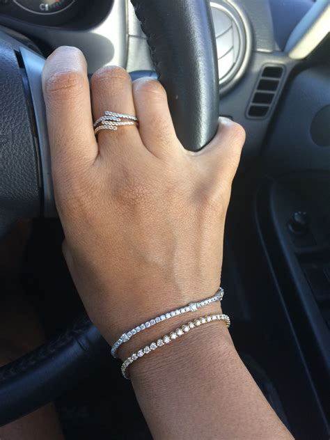 Layering with diamond tennis bracelets   PurseForum