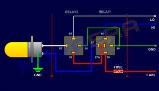 7031 Relay 40a Kaki 2 memasang relay untuk lu byson fz series