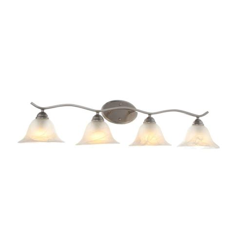 Hton Bay Lighting Fixtures Catalog Hton Bay Andenne 4 Light Brushed Nickel Bath Vanity Light 705207 The Home Depot