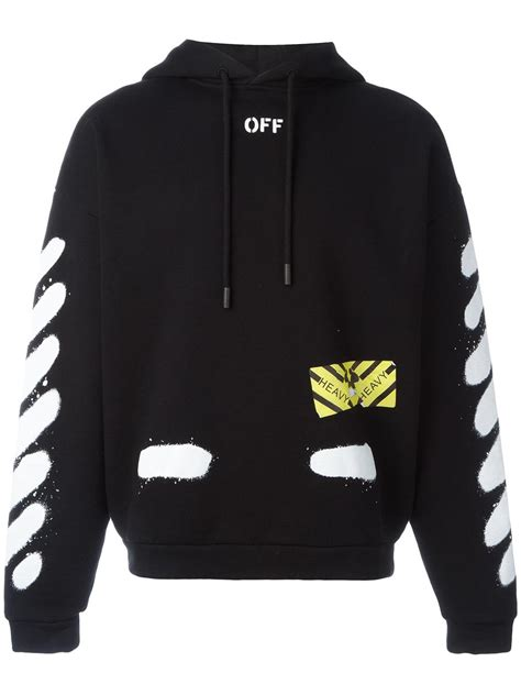 hoodie design cheap uk off white diag spray hoodie 1001 black white men