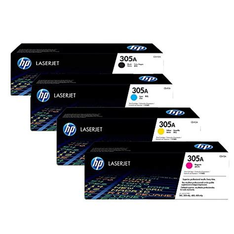 Sale Toner Hp Hp 305a Black Ce410a hp 305a toner cartridge set oem black cyan magenta yellow ce410a ce4 ebay