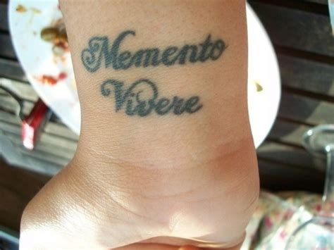 memento vivere tattoo memento vivere picture at checkoutmyink