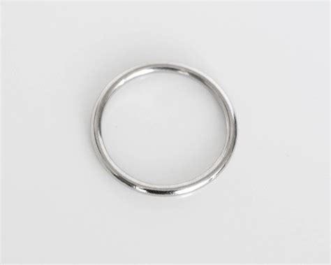 and co ultra thin platinum wedding band ring for