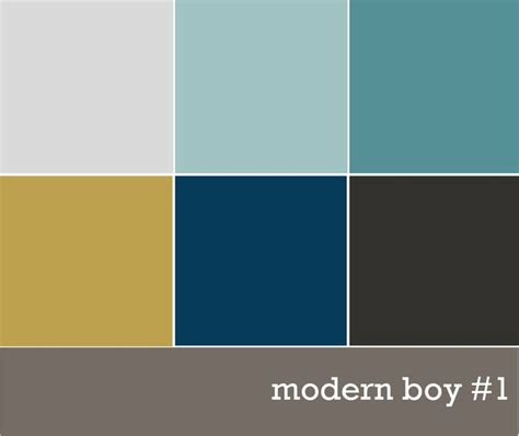 Modern Color Combinations | modern boys color palette magazine pinterest front