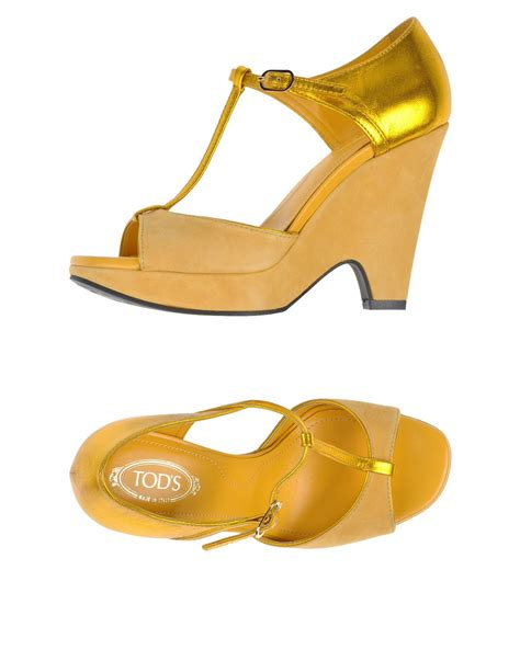 yellow sandals tod s sandals in yellow lyst