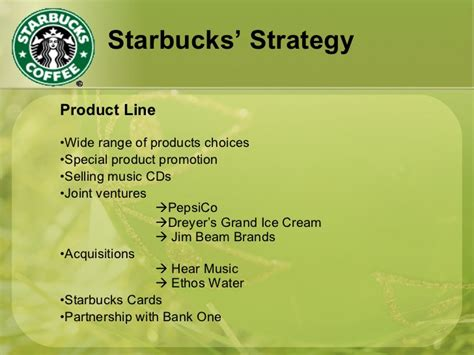 product layout of starbucks starbucks strategy