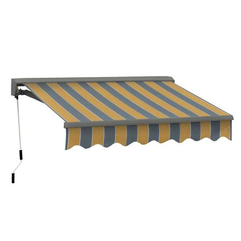 manual retractable awning advaning 12 ft classic c series semi cassette manual
