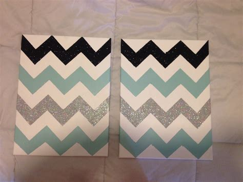 easy things to paint on canvas decor ideas for large wall spaces diy chevron canvas make your chevron pattern tape off