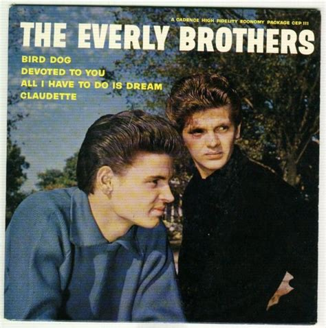 bird everly brothers the everly brothers bird devoted to you cadence cep 111 ep 45 rpm record