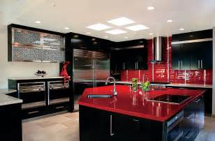 Red And Black Kitchen Ideas red black and white interiors living rooms kitchens