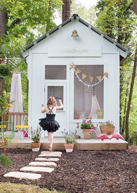 cheerful outdoor kids playhouses home design  interior