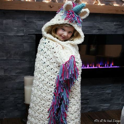 unicorn hood pattern bulky quick unicorn blanket cowl pattern by mj s off