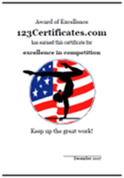 free printable gymnastics certificates and gymnastics awards