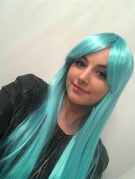 kittie long light baby blue wig wonderland wigs