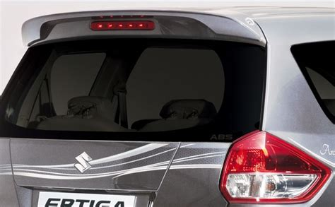 New Suzuki Ertiga Spoiler Model Original Jsl Colour By Request maruti suzuki ertiga feliz rear spoiler