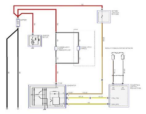 ford crown alternator wiring diagrams