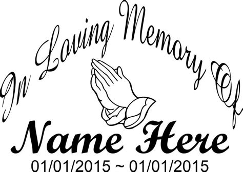 Auto Decals In Memory Of by In Loving Memory Of Big Decal Car Truck Vinyl Window