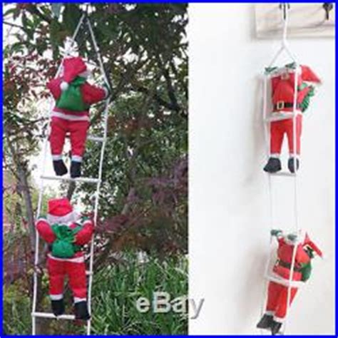 climbing santa ladder christmas decoration climbing santa with rope ladder 1 m 3ft indoor outdoor decoration