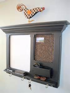 Old wood wall mail organizer with mirror and key holder ideas
