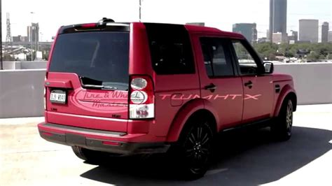 red land rover lr4 land rover lr4 with matte red vehicle wrap youtube