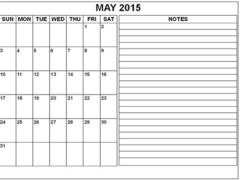 image gallery may 2015 calendar printable template