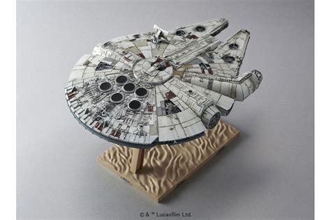 Bandai Swtfa 1 144 Millennium Falcon Assembly Plastic Model Kits wars plastic model kit 1 144 millennium falcon bandai mykombini