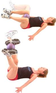 lying ball squeeze  core stability
