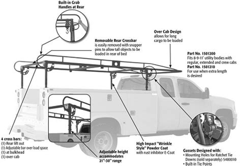 Buyers Ladder Rack by 1501210 Buyers Service Ladder Rack 14 5 L