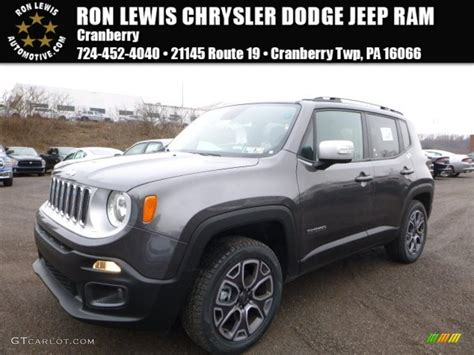 granite jeep renegade 2016 granite crystal metallic jeep renegade limited 4x4