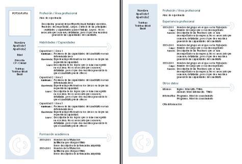 Modelo Curriculum Vitae Chile Descargar Curriculum Vitae Curriculum Vitae Descargar