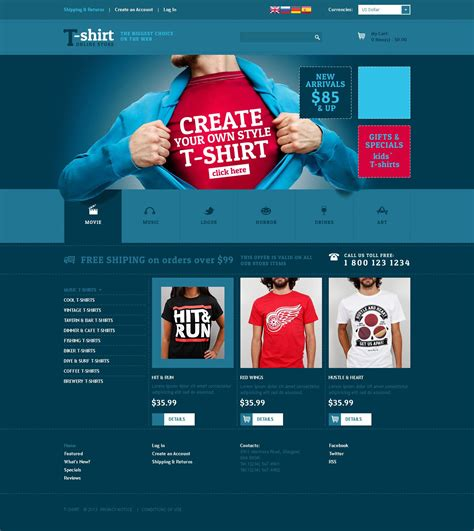Creative Tshirt Designs Oscommerce Template 51885 T Shirt Website Template Free