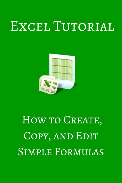 Excel Formulas For Beginners How To Create Copy And